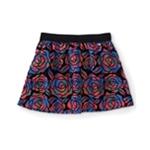 Aeropostale Womens Floral Velvet Woven Mini Skirt