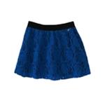 Aeropostale Womens Lacey Overlay Woven Mini Skirt