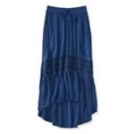 Aeropostale Womens Full Length Lace Insert Maxi Skirt