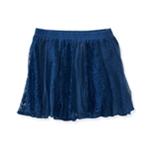 Aeropostale Womens Vertical Lace Overlay Mini Skirt