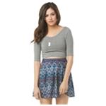 Aeropostale Womens Printed Skater Pleated Skirt