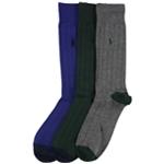 Ralph Lauren Mens Ribbed Heel Toe Midweight Socks