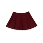 Aeropostale Womens Solid Stretch Pleated Skirt