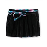 Aeropostale Womens Velour Removable Belt Mini Skirt
