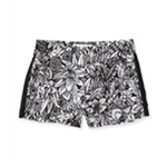 Aeropostale Womens Black And White Floral Casual Mini Shorts