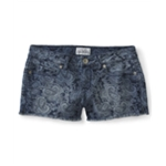 Aeropostale Womens Paisley Shorty Casual Denim Shorts