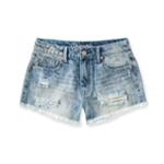 Aeropostale Womens High Rise Casual Denim Shorts