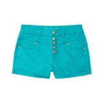 Aeropostale Womens High-Rise Shorty Casual Denim Shorts