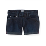 Aeropostale Womens Solid Casual Denim Shorts