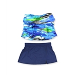 Caribbean Joe Womens Hideaway Skirt 2 Piece Bandeau