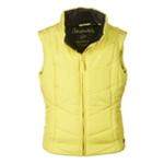 Aeropostale Womens Solid Chevron Zip Up Puffer Vest