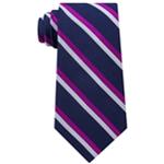 Tommy Hilfiger Mens Stripe Silk Self-tied Necktie
