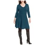 Spense Womens Ribbed Sweater Dress