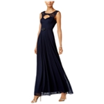 B&A Womens Illusion-Trim Gown Dress