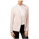 bar III Womens Notched Collar One Button Blazer Jacket