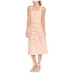 Vince Camuto Womens Button Trim A-line Dress