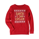 Aeropostale Girls Santa I Can Explain Sweatshirt