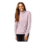 Karen Scott Womens Cable Knit Mock Pullover Sweater