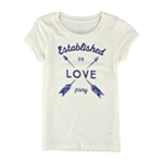 Aeropostale Girls LOVE psny Graphic T-Shirt