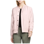 Vince Camuto Womens Rumpled Bomber Jacket