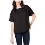 Vince Camuto Womens Pleat Back Basic T-Shirt