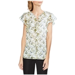 Vince Camuto Womens Flutter Sleeve Pullover Blouse