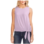 Vince Camuto Womens Tie-Front Textured Sleeveless Blouse Top