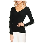 Vince Camuto Womens Contrast Pullover Sweater