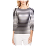 Vince Camuto Womens Stripe Twist Back Basic T-Shirt