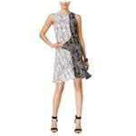 Vince Camuto Womens Printed Sheath Dress