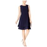 Taylor Womens Embellished A-line Dress