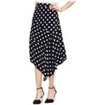 Vince Camuto Womens Polka-Dot Asymmetrical Skirt