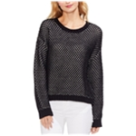 Vince Camuto Womens Textured Stitch Pullover Sweater