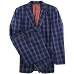English Laundry Mens Plaid Five Button Suit