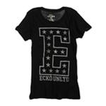 Ecko Unltd. Womens E Foil Crew Neck Graphic T-Shirt