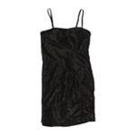 City Studio Womens Studio Shimmer Strapless Cocktail Shift Dress