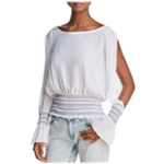 Ramy Brook Womens Slit Sleeve Pullover Blouse