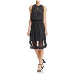 Ramy Brook Womens Quinn Silk Blouson Midi Dress