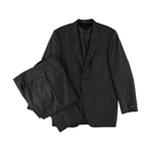 Alfani Mens Charcoal Solid Two Button Suit