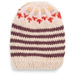 Free People Womens Stripe Knit Beanie Hat