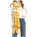 Free People Womens High Fringe Scarf