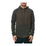 AMBIG Mens The Cy 2 Tone Quilted Hoodie Sweatshirt