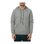 AMBIG Mens The Dwight Quilted Hoodie Sweatshirt