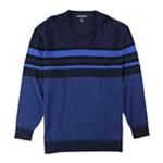 Alfani Mens Bold Pop Striped V-Neck Pullover Sweater
