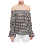 Sanctuary Clothing Womens Check Knit Blouse