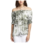Sanctuary Clothing Womens Tiki Palm Off the Shoulder Blouse