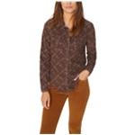 Sanctuary Clothing Womens Floral Button Up Shirt