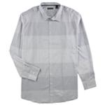 Alfani Mens Renens Blocked Stripe Button Up Shirt