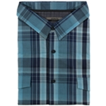 Alfani Mens Plaid SS Button Up Shirt