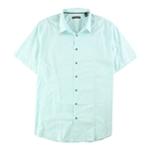Alfani Mens Textured Button Up Shirt